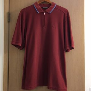 Vintage style Tommy Bahama Quarter Zip Polo